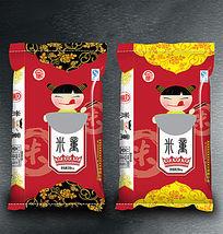 红色米童米袋包装设计