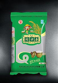 润口香米袋设计
