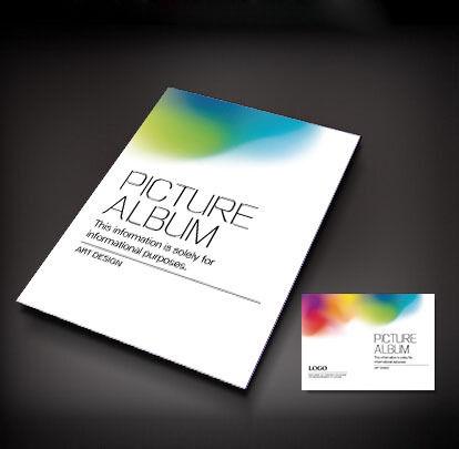 彩色背景画册封面设计图片