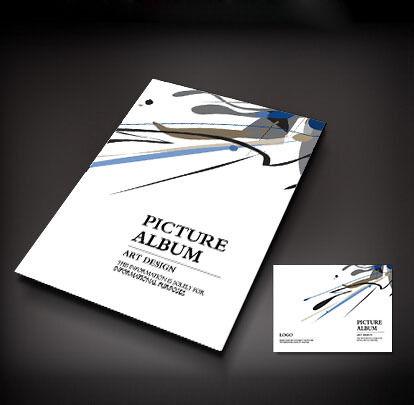 抽象艺术画册封面设计图片