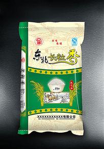 东北长粒香大米包装设计