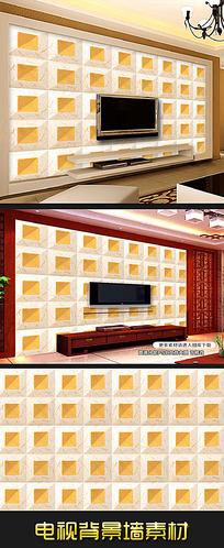 高档仿艺术砖软包浮雕电视背景墙素材