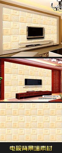 9款 高档仿艺术砖软包浮雕电视背景墙装饰画psd下载