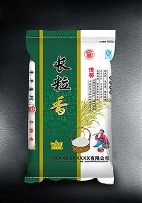 绿色包装袋长粒香大米包装袋设计