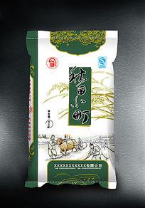 秋田小町米包装袋设计