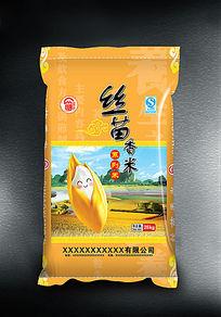 丝苗香米包装袋设计