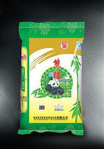 熊猫香米包装袋设计