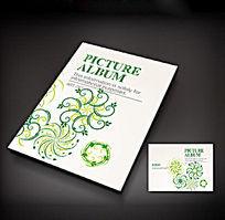 简单绿色花纹图案封面设计