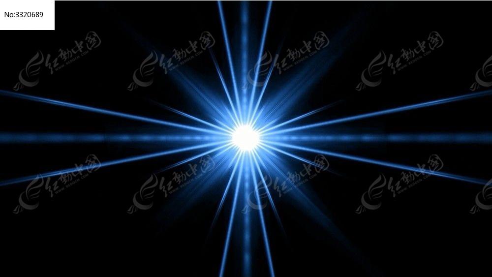 视频_蓝色线条汇聚的光效动态背景视频素材