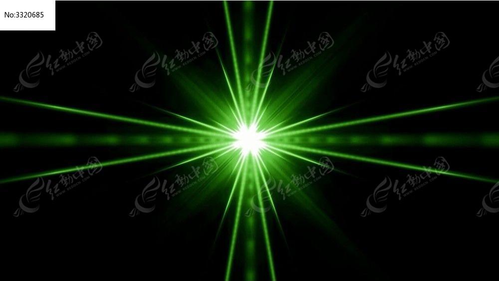 视频_绿色线条汇聚的光效动态视频