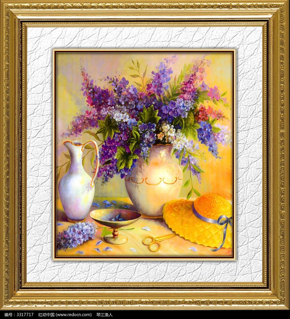 欧式装饰画贴图-13款 高清花卉油画