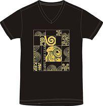 羊年T恤印花图案设计
