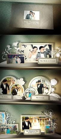 婚礼ae电子相册模板
