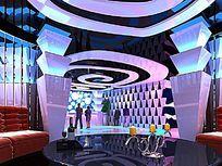 ktv大厅3d模型设计