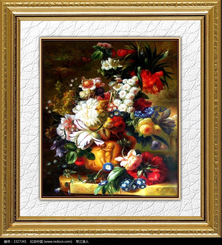 欧式花卉油画图片