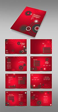 红色时尚画册排版模板
