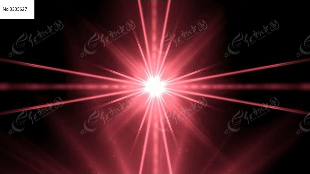 视频_红色线条汇聚并且爆炸led光效视频