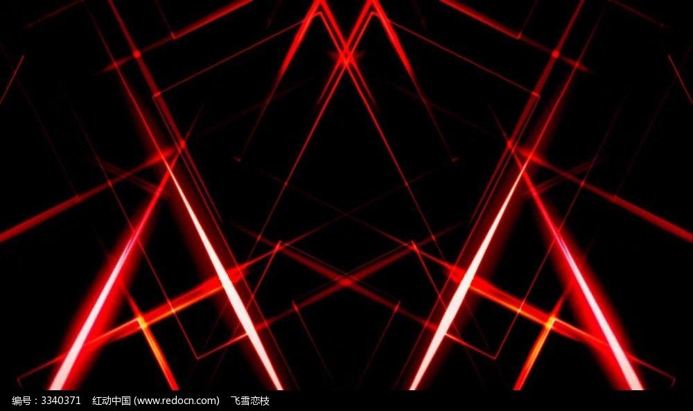 视频背景_红色线条流光动态视频背景