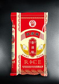 旺家香油粘米包装设计
