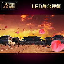 古典中国风宫殿花瓣飞舞LED高清视频