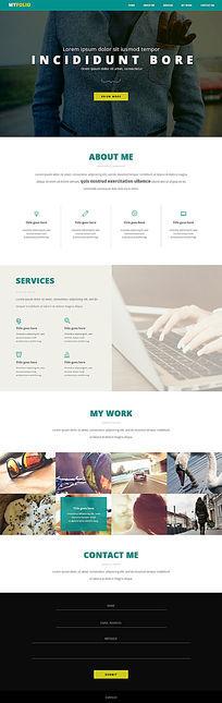 国际化企业个人大气网站PSD模板 PSD
