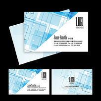 蓝色科技IT电子企业名片通用模板