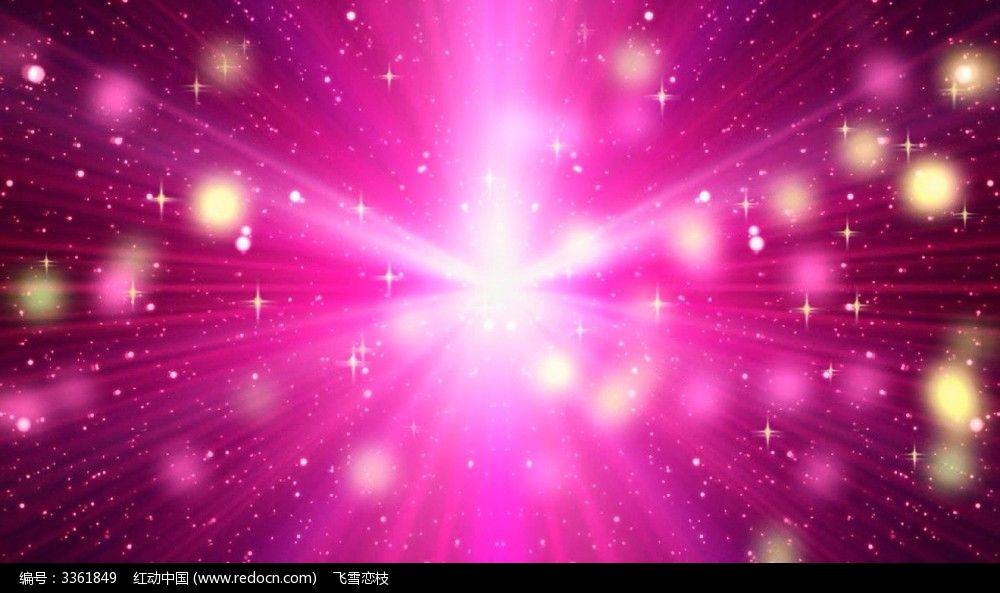 视频_枚红色光线粒子动态视频背景