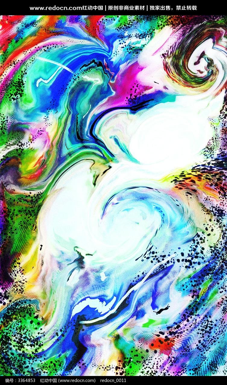 色彩酒店抽象装饰画图片
