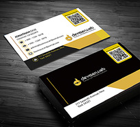 黄色IT科技创意商务名片