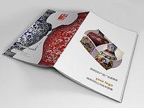 中国风古典瓷器画册封面设计
