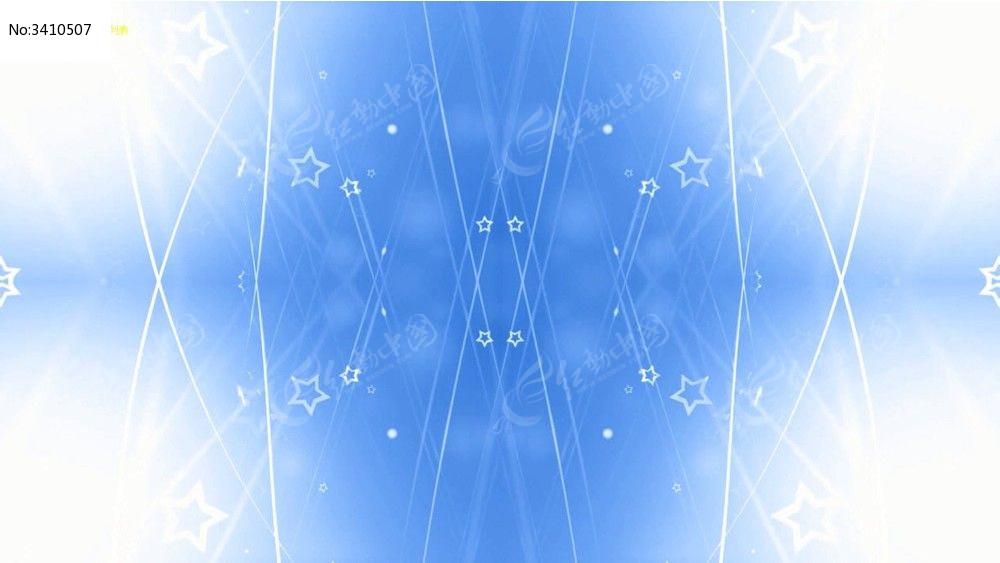 蓝色线条交织间的五角星动态视频背景