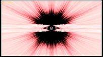 粉红色瀑布粒子隧道动态视频背景