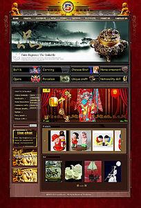 古典美中国民族特色民俗风网站页面设计 PSD