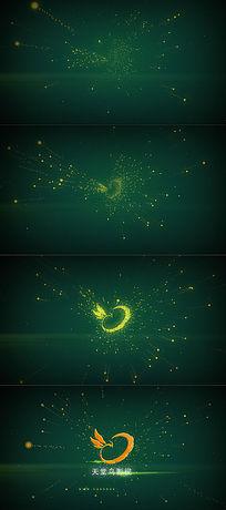 漂亮的粒子星空穿梭logo揭示ae片头视频