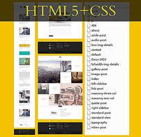 HTM5+CSS网页模板个人网站模板