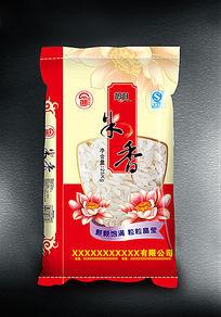 红色米香包装设计
