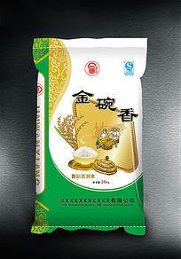 金碗香日本大米包装 AI