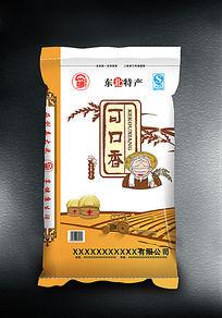 可口香大米包装袋子图片