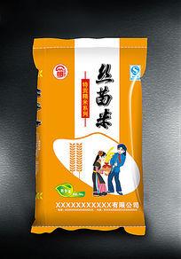 丝苗米大米包装设计 AI