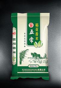 五常稻花香大米包装设计