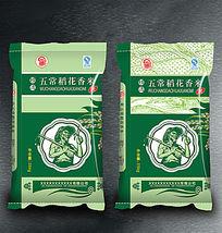 五常稻花香米东北大米包装设计