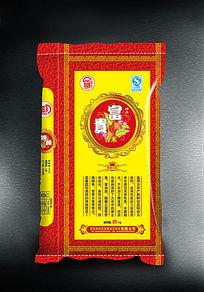 喜庆富贵香米包装袋设计