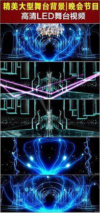 绚丽开场梦幻宫殿LED大屏幕视频背景