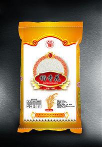 稻香花大米包装设计