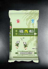 福香稻大米包装袋子设计