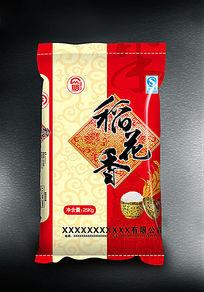 红色稻花香米袋包装
