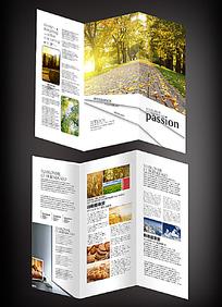 10款 国际旅游、风景三折页设计PSD分层原创设计稿下载