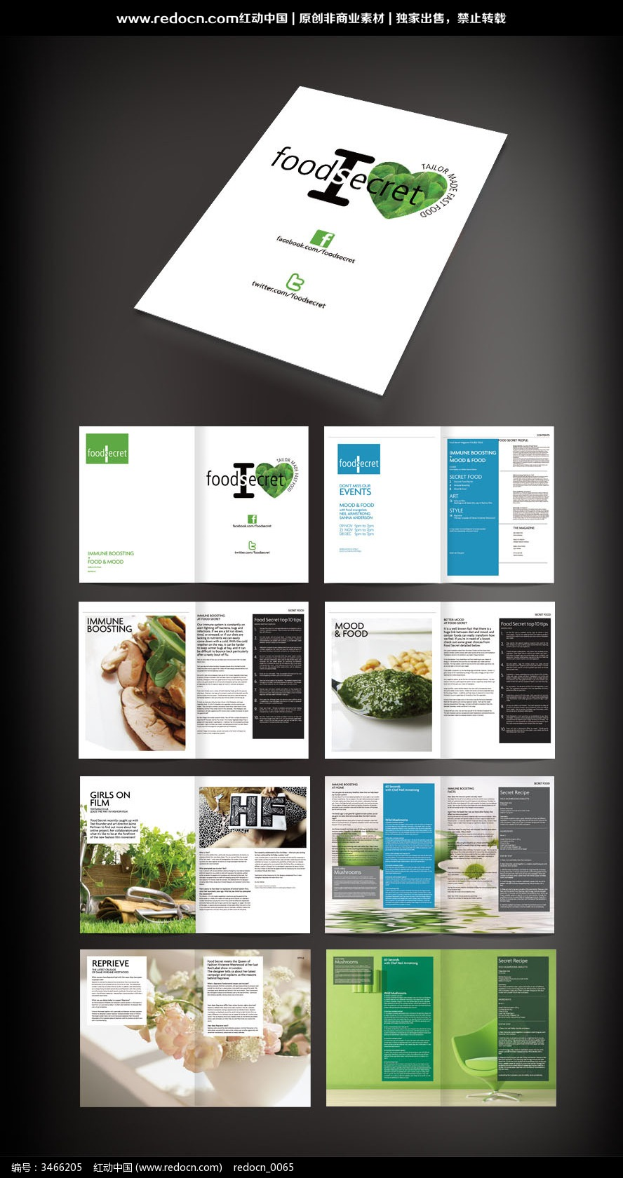 生活画册版式设计图片