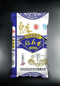 蓝色包装袋稻花香
