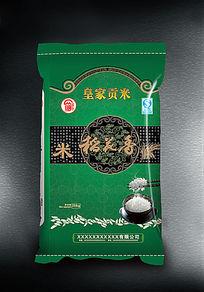 绿色版面稻花香包装袋图片